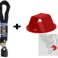 1.8M HEAVY DUTY CHAIN LOCK & PADLOCK 0.4IN/10MM THICK ! + ANCHOR