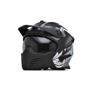 Spada Helmet Storm Matt Black/Grey/Silver Flip Up
