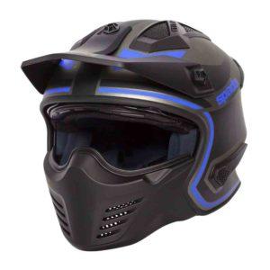 Spada Helmet Storm Titan Black/Blue Flip Up MotoR