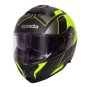 Spada Helmet Orion Whip Matt Black/Flo - Flip Up Helmet