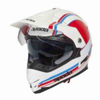 Spada Helmet Intrepid Delta White/Red/Blue